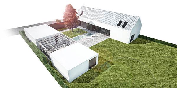 Dom tvoria dve budovy, každá slúži na niečo iné