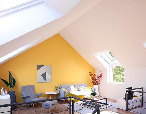 Denné svetlo zvýrazňuje krásu jednoduchého interiéru.