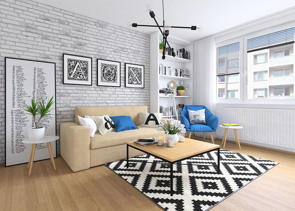 Ako vtesnať do panelákovej obývačky jedáleň aj pracovňu