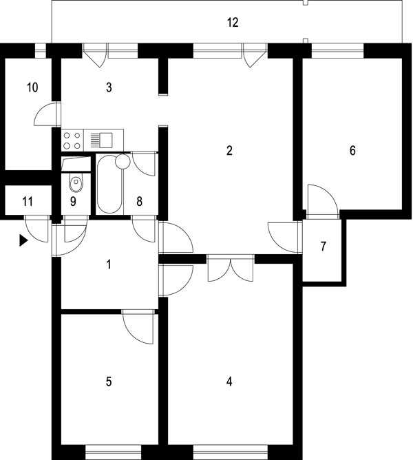 Radikálne zmeny v byte s 12 dverami