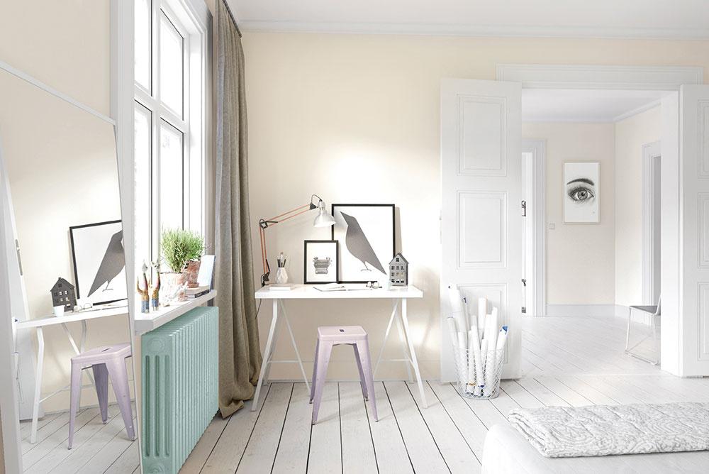 Mnohí znás chcú mať doma pocit voľnosti avzdušnosti, ale ako ho docieliť? Na steny, nábytok apodlahy voľte svetlé farby, kde dominantou bude biela. Predstavuje čistotu, nadčasovosť asviežosť. Podobne ako ostatné farby, aj biela má viacero odtieňov, na ktoré sa zamerala značka Primalex vedícii Inspiro – jemné tóny bielej. Vanilková belosť akrémové kapučíno prispejú kteplému sfarbeniu domácnosti, odtiene prírodný ľan či holubičia šeď zasa voľte, ak preferujete sfarbenie stien do studena. www.primalex.sk