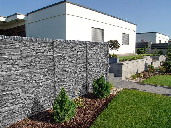 Skúste plot z betónových dosiek