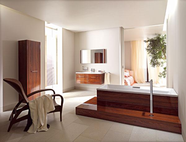Kúpeľne v otvorenej dispozícii