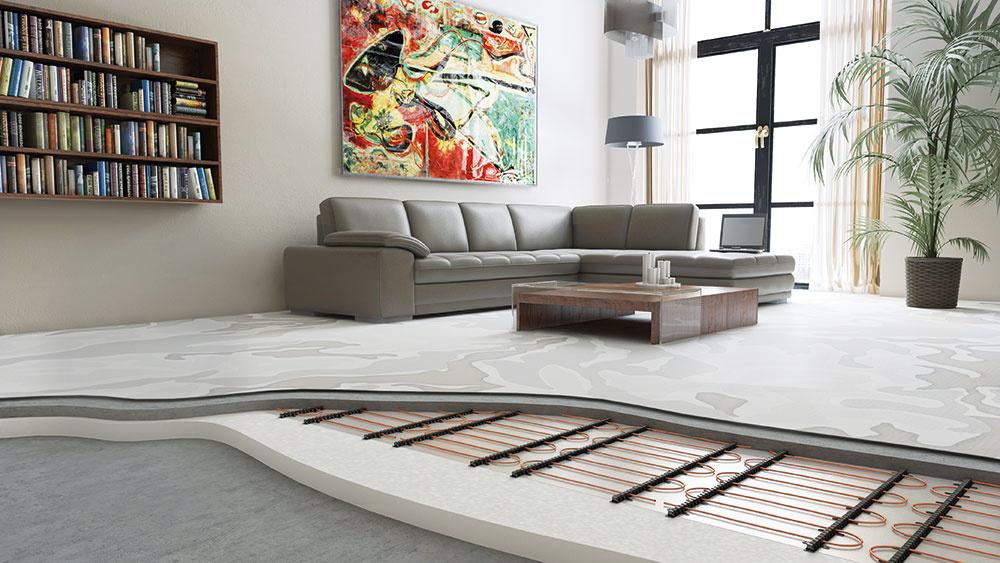 S podlahovým vykurovaním je rozloženie teplôt vpriestore optimálne – pri podlahe je príjemne teplo a rozdiel teplôt medzi podlahou a stropom je minimálny. Naše telo totiž reaguje na zmeny teploty rôzne – najodolnejšia je hlava, naopak veľmi citlivé na teplotu sú chodidlá, členky a lýtka. www.fenix.sk