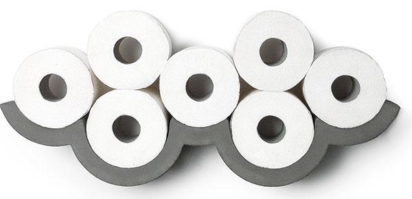 Aj niečo také obyčajné, ako je držiak na toaletný papier, môže vyzerať úplne neobyčajne. Držiak Cloud od Lyon Beton určite. Predáva Bonami.