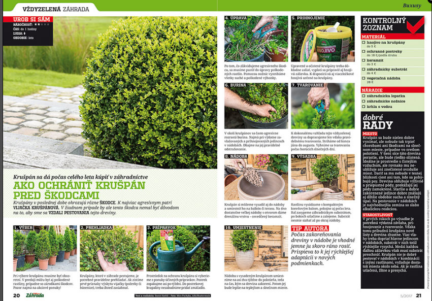 Aktuálne číslo časopisu Záhrada v predaji