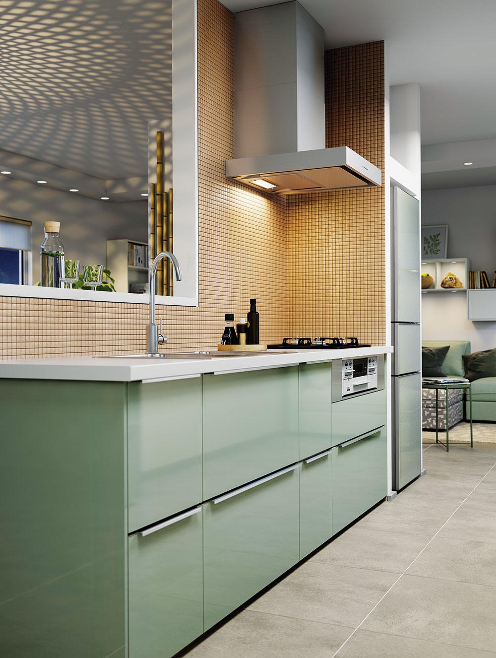 FAREBNÉ MOŽNOSTI kuchýň a kuchynských zásten sú obrovské a určite sa ich nemusíte báť. Svojich priaznivcov si stále nachádza aj mozaika – od jednofarebnej v svetlých tónoch po výrazné pestré variácie.