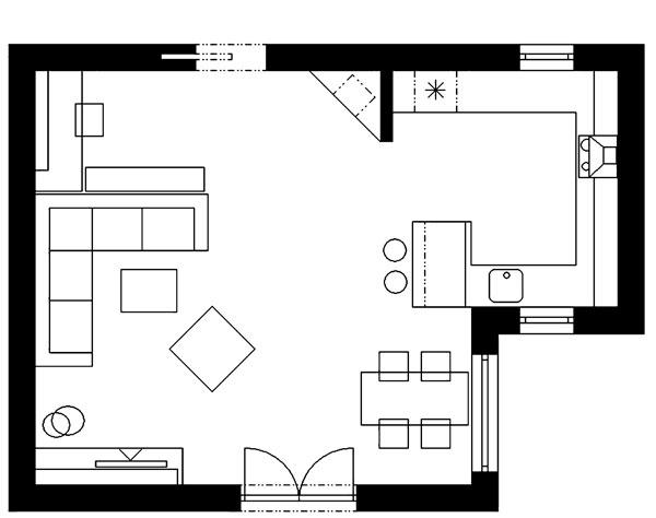 Štyri zóny v jednej izbe