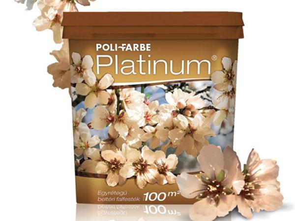 Poli-Farbe Platinum Vďaka svojim výborným aplikačným vlastnostiam je praktickou pomocníčkou pri skrášľovaní interiérov. Farba pri nanášaní nekvapká a nesteká, pretože má hustú, gélovú štruktúru. Tvorí matný trvácny náter, ktorý je ľahko umývateľný. Neobsahuje formaldehyd a po nátere krásne rozvonia interiér. Je to nadčasová farba pri hľadaní inšpirácie, pomôže dosiahnuť zaujímavý výsledok. Na výber je niekoľko vkusných a moderných odtieňov. www.polifarbesk.sk