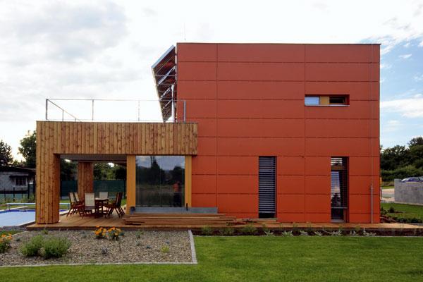 Dom v duchu európskej drevostavby