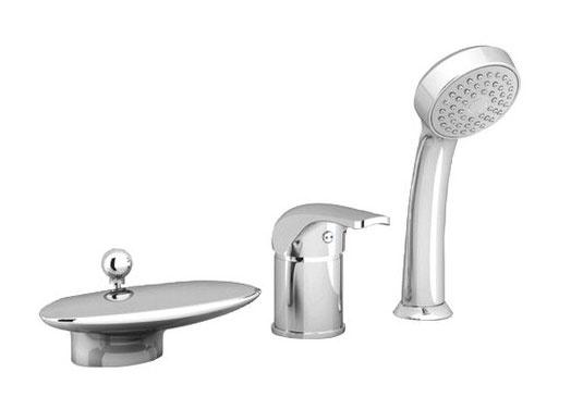 Vaňová batéria – vodopád, model RS 025.00, cena 229 €, záruka 5 rokov, dizajn ladiaci najmä s konceptom Rosa