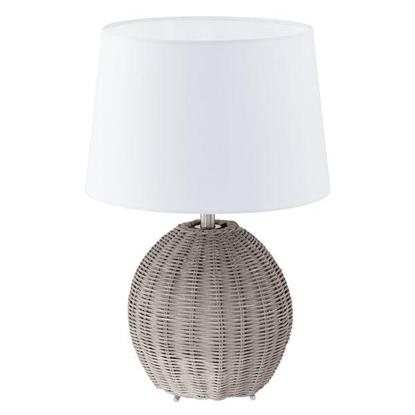 Prírodný prvok Vintage lampa pristane rovnako dobre nočnému stolíku, ako aj komode v obývačke. Stolová lampa Roia, textil a prútie, výška 40 cm, 43,90 €, www.eglo.sk