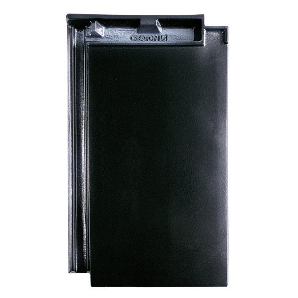 Plochej keramickej škridle DOMINO pristane najmä moderné čierne prevedenie.