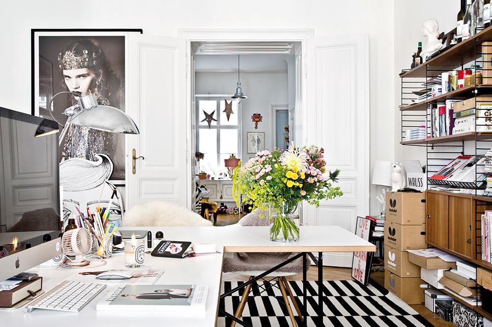 Eklektizmus zmiešaný s vintage: Štýlový byt a ateliér v jednom