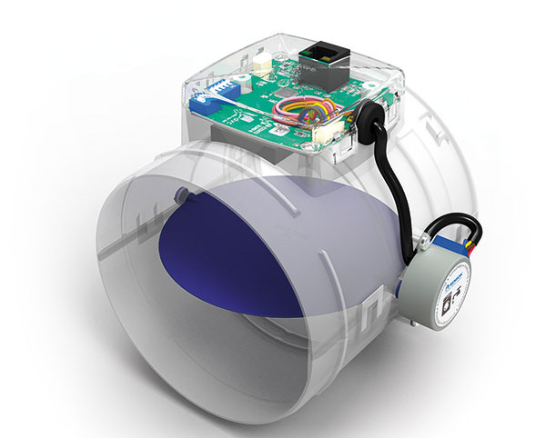 Healthconnector je súčasťou vetracieho rozvodu a je určený na reguláciu kvality vzduchu v jednotlivých miestnostiach. Prietok privádzaného a odvádzaného vzduchu riadia senzory integrované v každom ventile, ktoré reagujú na zmenu CO2, vlhkosti a VOC. Prívod čerstvého vzduchu je zaistený nadokennými vetracími mriežkami.