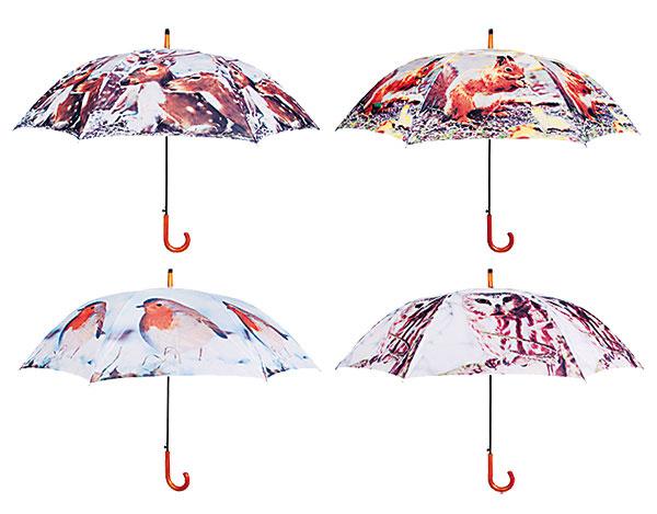 3x Dáždnik s lesným motívom