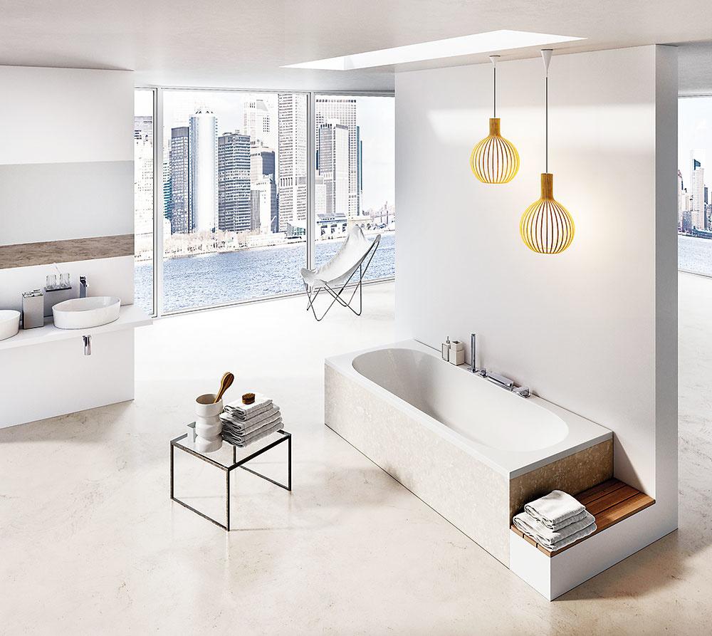 Akrylátová vaňa City od značky Ravak s rozmermi 180 × 80 cm vďaka svojej striedmosti skvelo zapadne do modernej kúpeľne. Oblý vnútorný tvar, ktorý oceníte pri kúpeli, dopĺňa obdĺžnikový vonkajší plášť. Asymetrický lem umožňuje na širší z nich inštalovať aj napúšťanie typu vodopád.