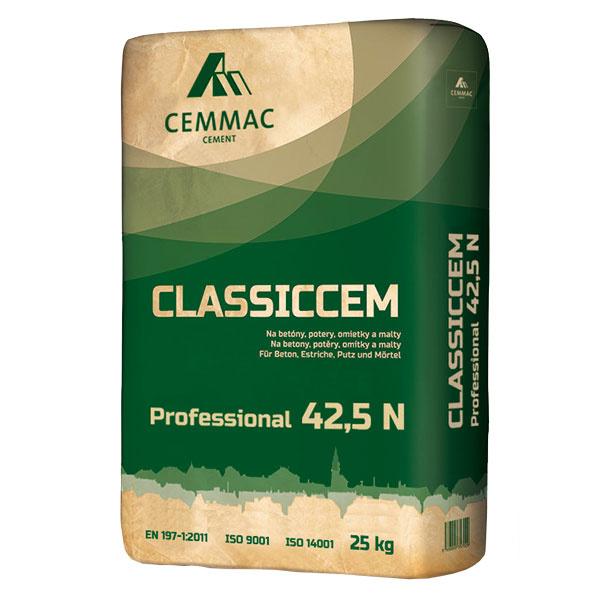 CLASSICCEM 42,5 N   Pri betonáži väčších spevnených plôch predstavuje ideálnu voľbu nový cement CLASSICCEM 42,5 N od spoločnosti CEMMAC. Vďaka svojej pevnosti a stabilnej kvalite je vhodný aj na výrobu vysokozaťažovaného a namáhaného betónu. Vyznačuje sa výbornou spracovateľnosťou, možnosťou dlhšej manipulácie pri ukladaní betónu, mimoriadnou plasticitou a tiež vysokou koncovou pevnosťou betónu. www.cemmac.sk