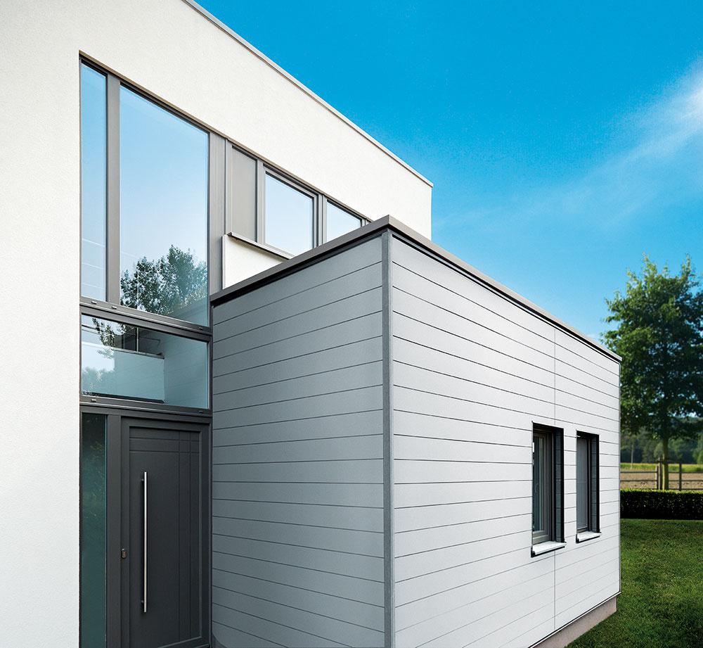 Hliníkové fasádne obklady Premium sa dajú jednoducho kombinovať aj skompozitným obkladom Twinson Premium avytvoria tak veľmi pekný vzhľad celého domu. www.inoutic.sk