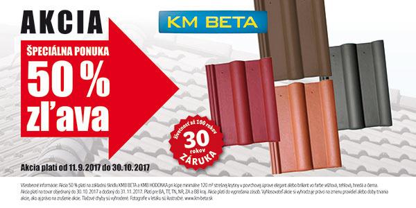 Akciová cena na strechu KM BETA stále trvá !!!