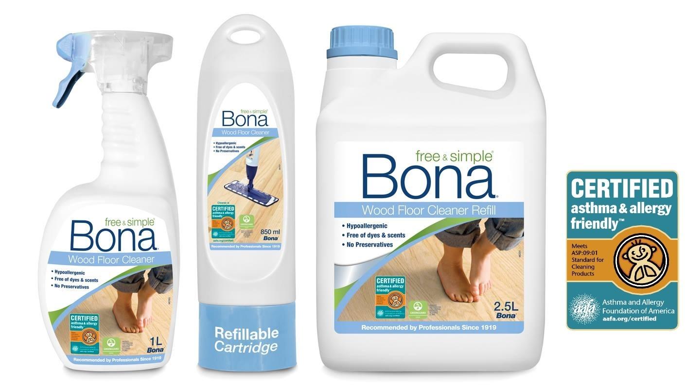 Bona predstavuje novinku vo svojom sortimente – nový čistiaci prostriedok na drevené podlahy Bona Free & Simple