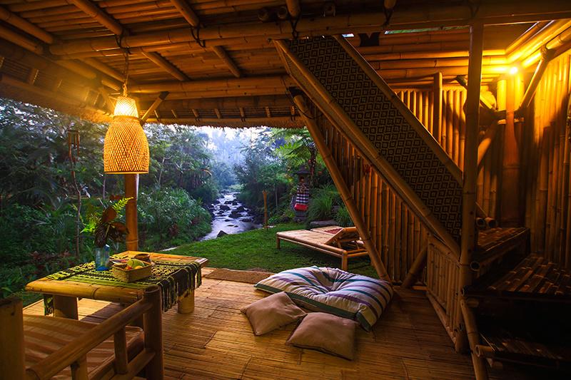 Bambusový domček ako skvelý zážitok!