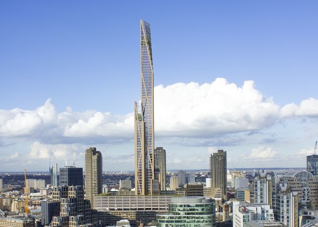 Oakwood Tower, un edificio di 80 piani a Londra da CLT Files