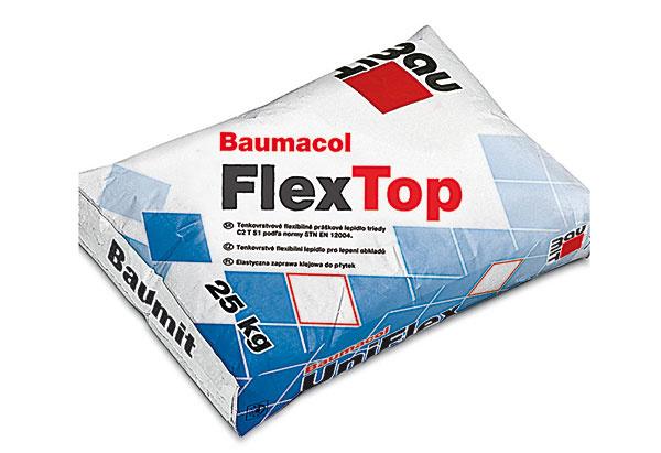 Investíciu do kvalitnej dlažby či obkladu by mal sprevádzať správny výber lepiacej malty, ktorá by mala garantovať pevnosť, flexibilitu a priľnavosť. Čím vyššia kvalita lepidla, tým vyššia bezpečnosť systému. Baumit ponúka široký sortiment vysokozušľachtených lepidiel triedy C2 na všetky účely. Flexibilné lepidlo Baumacol FlexTop triedy C2TE S1 podľa normy STN EN 12004 na lepenie obkladov a dlažby je určené na vnútorné aj vonkajšie použitie. www.baumit.sk
