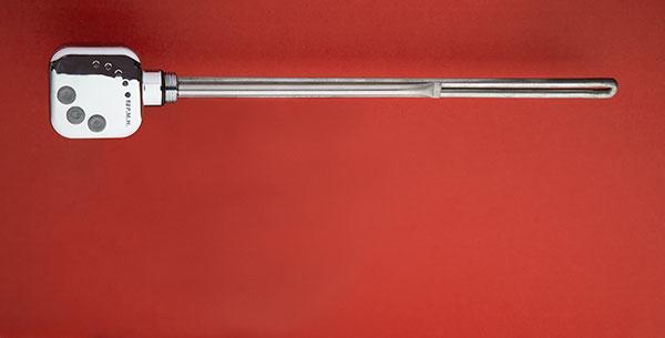 Pri elektrickom alebo kombinovanom vykurovaní možno použiť univerzálnu vykurovaciu tyč PMH HT1 v bielom, čiernom, chrómovom prevedení alebo v prevedení metalická strieborná.