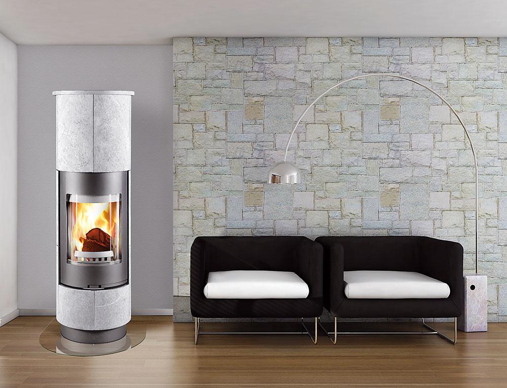 KOZUBOVÉ KACHLE THORMA DELIA PLUS Serpentino s elegantným dizajnom prinášajú pôžitok z ohňa vďaka svojim celozaskleným dvierkam. Obklad je vyrobený z kameňa s peknou kresbou a dobrými akumulačnými vlastnosťami. www.thorma.sk