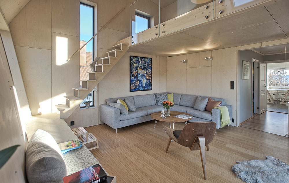 interiér prístavby domu
