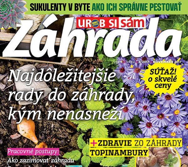 Aktuálne vydanie časopisu Záhrada 09/2017 v predaji