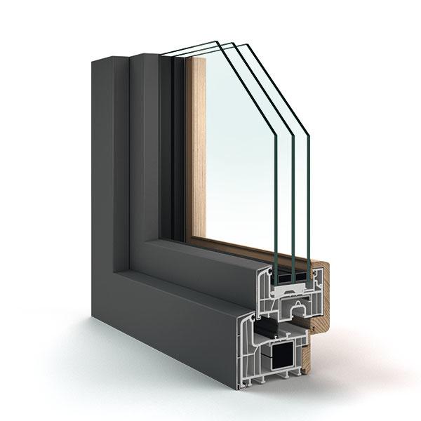 6-komorový profil Eforte so  zasklením až 56 mm, do ktorého možno osadiť zvukovoizolačné sklá, a to s hodnotou izolácie až 46 dB.