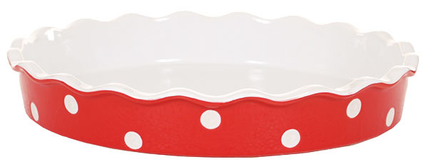Zapekacia misa Red, okrúhla, keramika, 22,90 €, www.casaromantica.sk