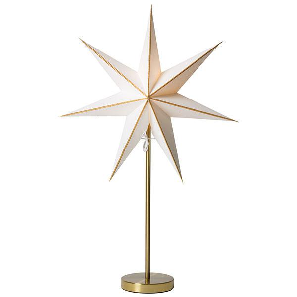 Stolová lampa Linje gold/Kalix gold od značky watt&veke, papier, kov, priemer 44 cm, výška 65 cm, 49,40 €,  www.bellarose.sk