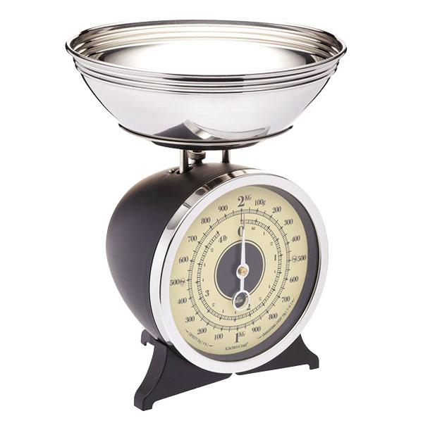 Mechanická váha do kuchyne Black od značky Kitchen Craft, výška 23,5 cm, 83,42 €, www.bellarose.sk