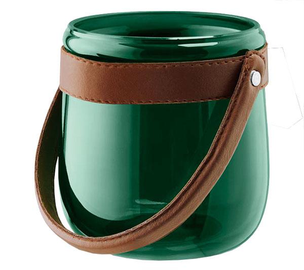 Svietniky zručne fúkaného farebného skla, sklo, imitácia kože, výška 10,5 cm, priemer 10 cm, 14,99 €/2 ks, www.tchibo.sk