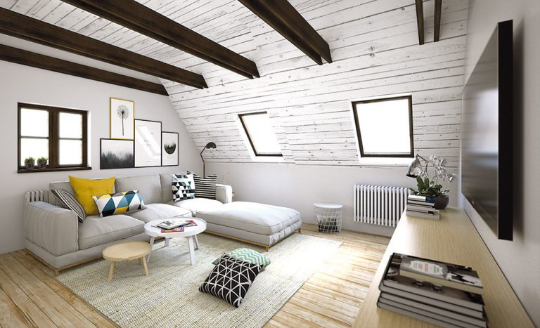 Ako zariadiť podkrovnú izbu s multifunkčným využitím