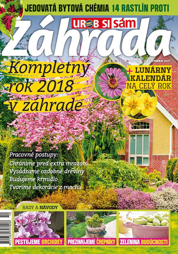 Aktuálne vydanie časopisu Záhrada 10/2017 v predaji