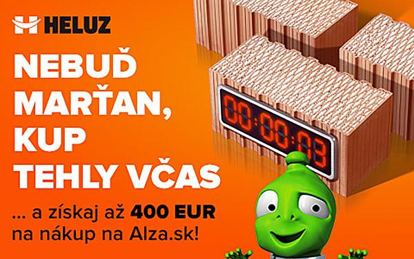 JARNÁ AKCIA HELUZ – K tehlám HELUZ navyše poukaz na nákup v Alza.sk