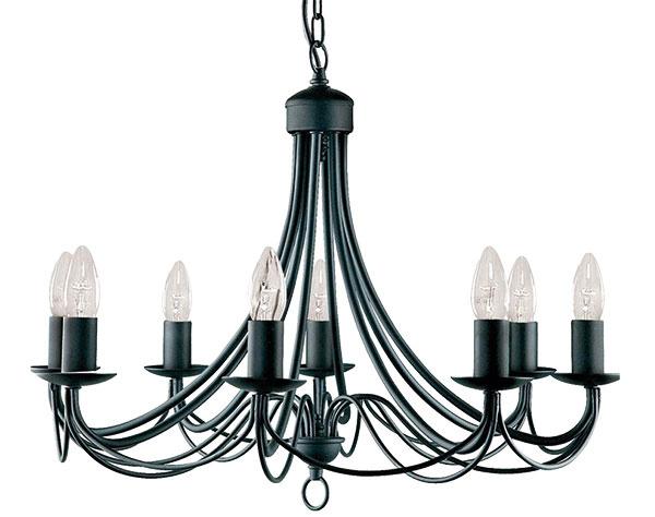 LUSTER Maypole od značky Searchlight, kov, 100 × 60 cm, 182 €, www.elampy.sk