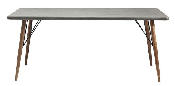 JEDÁLENSKÝ STÔL od značky Kare Design, doska z MDF, nožičky z jedľového dreva, oceľové ozdoby, 90 × 76 × 180 cm, 639 €, www.bonami.sk