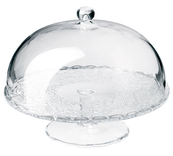 S vrchnákom, sklo, neobsahuje kadmium ani olovo, výška 22 cm, priemer 29 cm, 12,99 €, IKEA