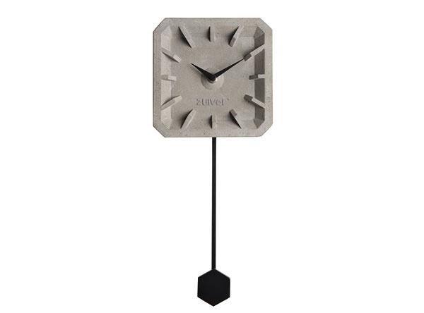 Štýlové betónové s elegantným čiernym kyvadlom, 37,5 × 4 × 15,5 cm, 38,46 €, www.dwell.co.uk