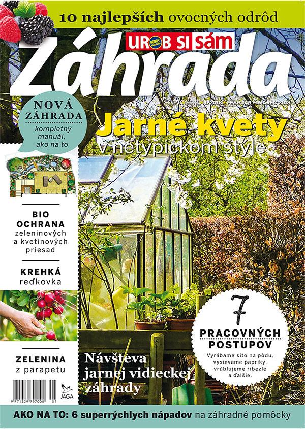 Prvé tohtoročné vydanie časopisu Záhrada 2018/01 v predaji