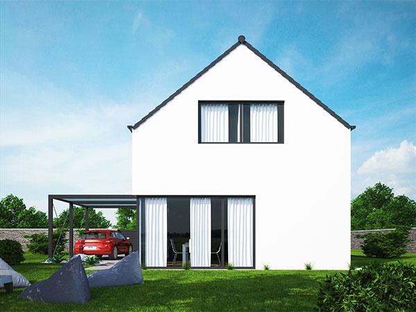 Moderné bývanie v klasickom dome so šikmou strechou