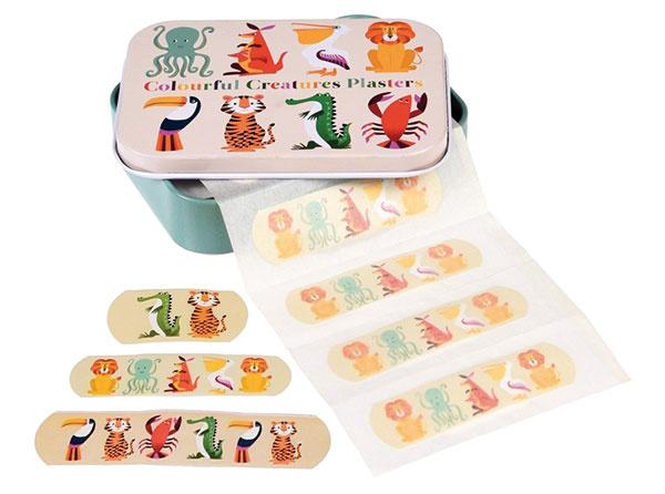 Súprava náplastí v škatuľke Rex London Colourful Creatures, hmotnosť 46 g, kartón, kov, 4 €, www.bonami.sk