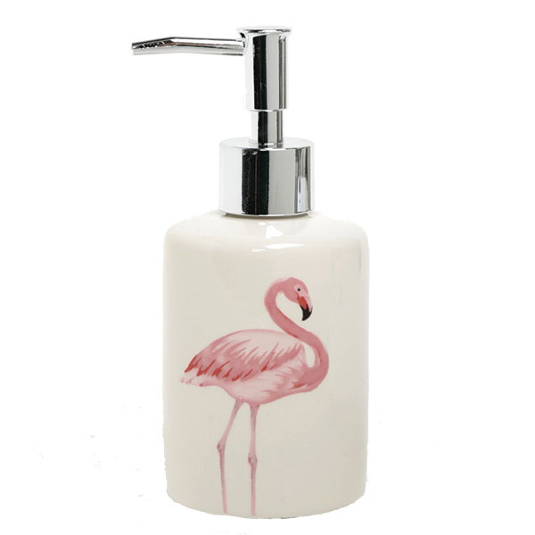 Krémový dávkovač na tekuté mydlo s potlačou plameniaka SIFCON, plast, 9,95 €, www.zoot.sk