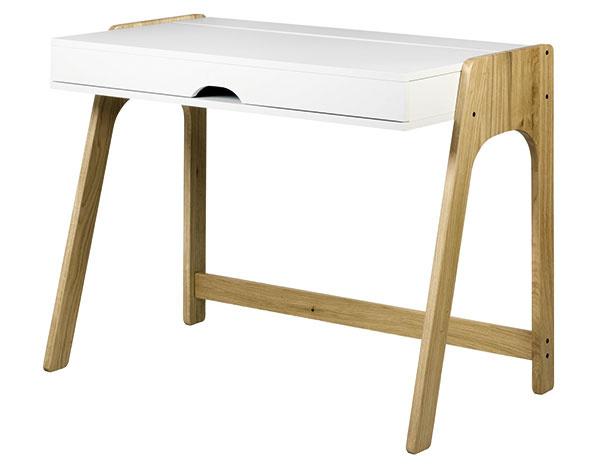 Písací stôl Aura od značky Tema Home, 94 × 76 × 53 cm, MDF, dubové drevo, 399 €, www.bonami.sk