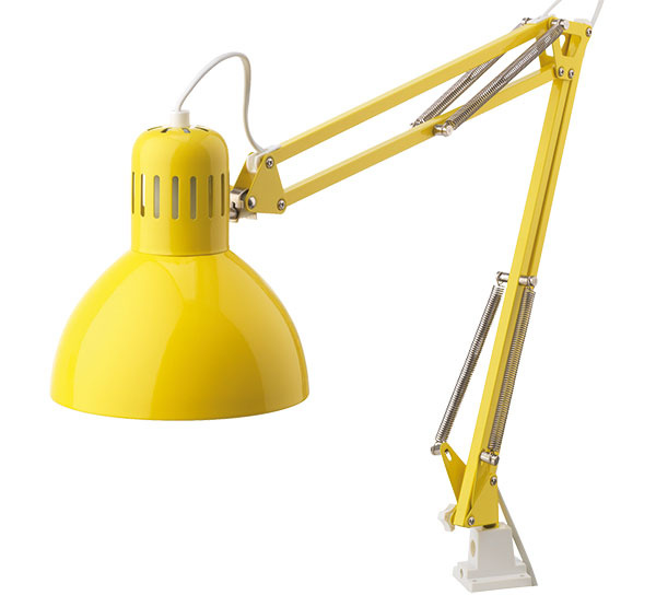 Pracovná lampa TERTIAL, aj biela, 8,99 €, IKEA